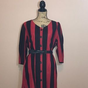 Vintage Harley Quinn colors red black  dress
